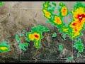 Edwards Doppler Radar of June 12th Thunderstorm between 5 pm PDT and 6 pm PDT.