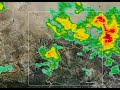 Edwards Doppler Radar of June 12th Thunderstorm between 5 pm PDT and 6 pm PDT.