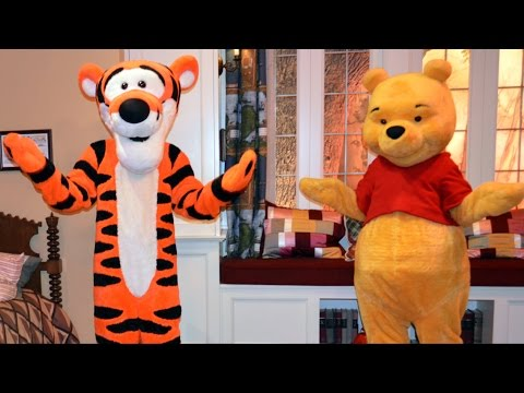 Winnie The Pooh And Tigger In Christopher Robin's Room At United Kingdom Pavilion In Epcot video