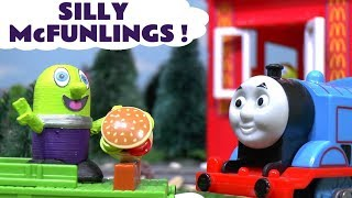 Funny Funlings at the McDonalds Drive Thru with Thomas and Friends and Spiderman TT4U