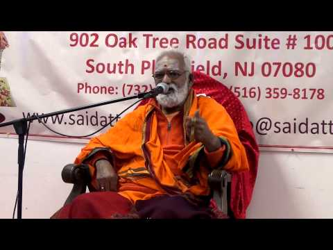 Courtallam Swamiji Discourse on Siva Puranam Saidatta 102514 pravachanam Part 2