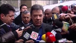 Presidente Santos luego de visitar a Radamel Falcao en Portugal - 25 de enero de 2014