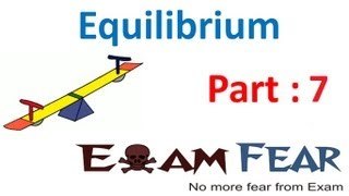 Chemistry Equilibrium part 7 (Example: chemical equilibrium) CBSE class 11 XI