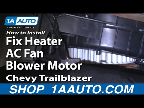 How To Install Repair Replace Fix Heater AC Fan Blower Motor Chevy Trailblazer 0