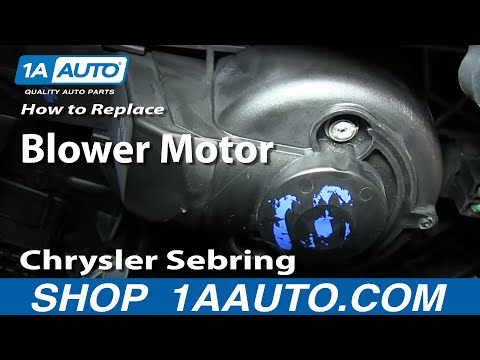 How To Install Replace Heater AC Fan Blower Motor 2001-06 Chrysler Sebring