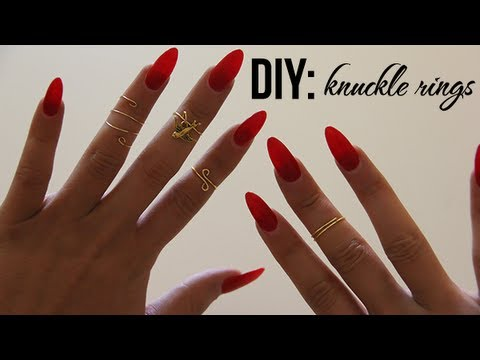 DIY: Easy Knuckle/Midi Rings