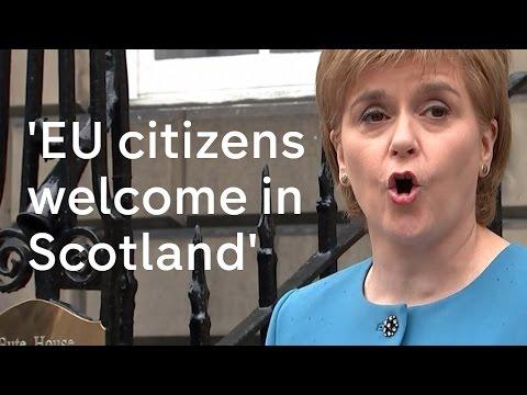 Nicola Sturgeon: EU citizens welcome