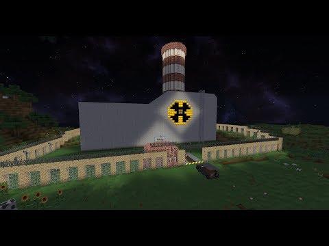 Взрыв атомной электростанции в майнкрафт