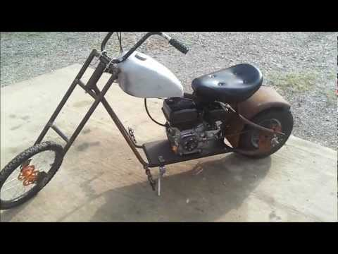 Homemade Custom 6.5 HP Mini Chopper Rat Bike