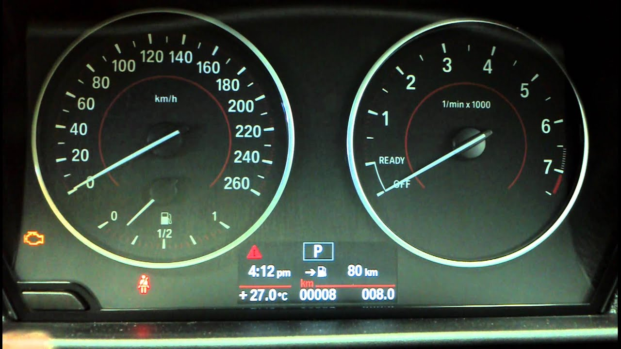 Bmw Dash Warning Lights >> BMW 1 Series F20 reset service light How to DIY: BMTroubleU - YouTube