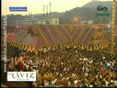 Sabarimala-2012-thiruvabharanam Reaches Sannidhaanam video