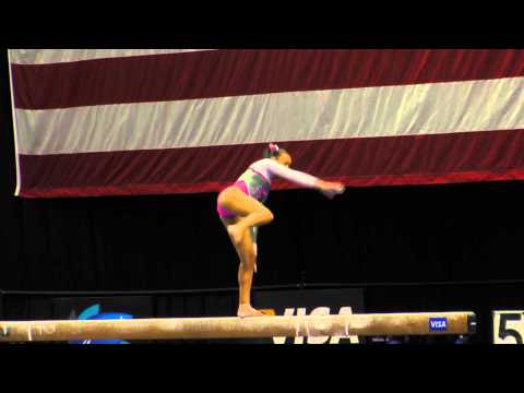 Brianna Brown -- Balance Beam -- 2012 Visa Championships -- Sr. Women -- Day 1