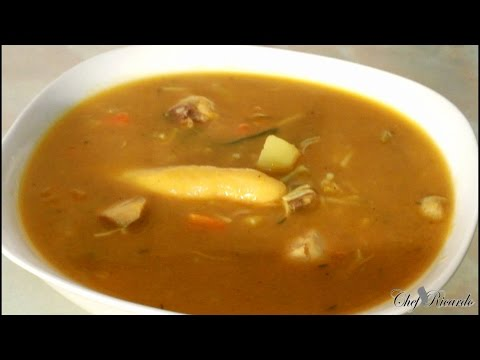 Jamaican Chicken Soup Recipe Video The Best In World | Recipes By Chef Ricardo thumbnail