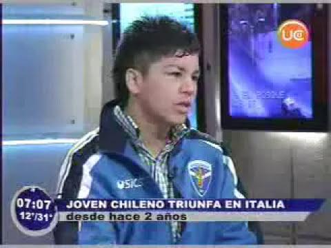 Joven chileno triunfa en Italia
