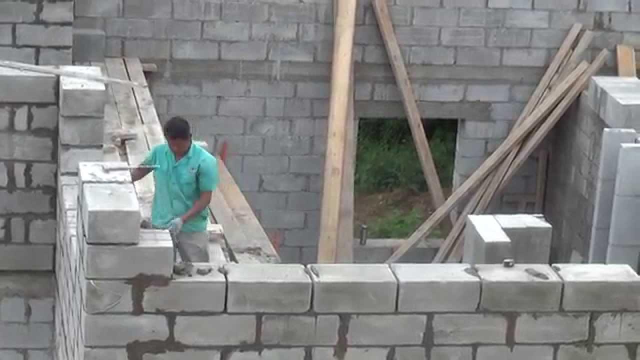 Как я строил дом из пеноблоков своими