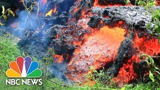 Hawaii's Kilauea Volcano: Eruptions, Geysers, And Lava Streams Flowing Into The Ocean | NBC News