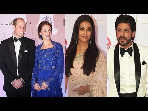 Prince William and Kate Middleton's GALA Dinner with Shahrukh Khan,Aishwarya Rai and others