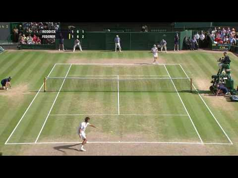 Federer vs Roddick Wimby  09 Final Highlights [HQ]