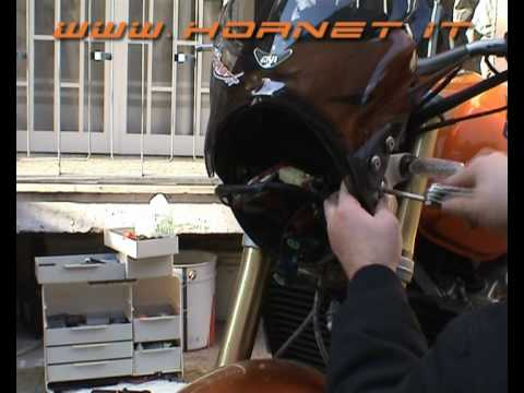hornet.it - installare kit xenon hornet 600 [Parte 1/2]