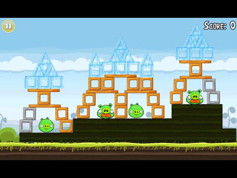 Official Angry Birds walkthrough for theme 4 levels 11-15