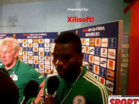 Joseph Yobo reacts after the match Nigeria 1 - 1 Burkina faso