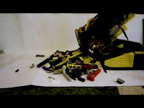 MOC Lego technic big rough terrain transporter, kipper video