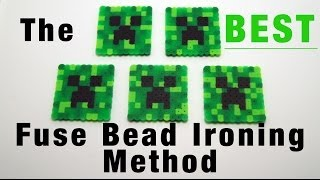 The BEST way to iron your fuse beads! (masking tape method)