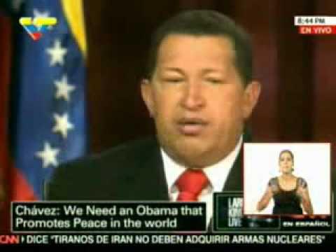 Larry King entrevista a Hugo Rafael Chávez Frías presidente de Venezuela 1/4