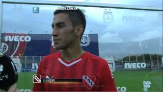 """Lucero: """"Volvimos a jugar bien"""". San Lorenzo 1 - Independiente 2. Fecha 12. Primera División. FPT"""