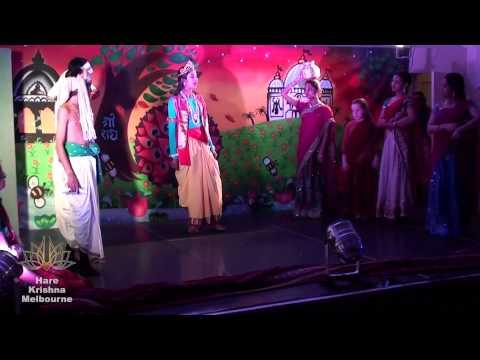'krishna-lila' Drama-janmastami 2014 Vedic Cultural Program - Part 7 video