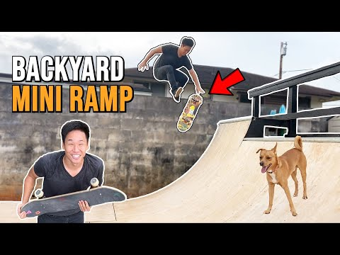 Skating a PERFECT Backyard Mini Ramp!
