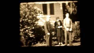 16mm Home Movie, 1940, Parades, Barns, Dogs, Farming, Visalia, California
