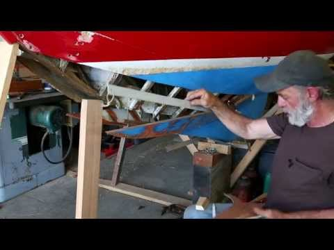 Part 4 - Herreshoff 12 1/12 - Steam bending a replacement timber in a plastic bag