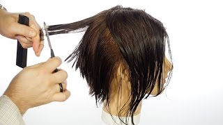 How to cut a Bob with a Razor - TheSalonGuy
