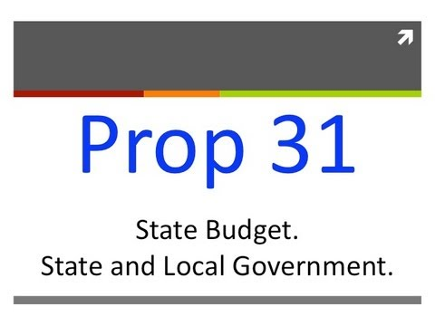 Proposition 31: Budget Reform (California General Election 2012)