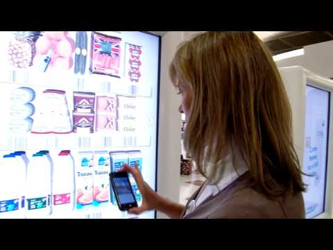 UK s first interactive virtual grocery store