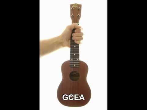 Standard Ukulele Tuning - GCEA (aka C-tuning) - uke
