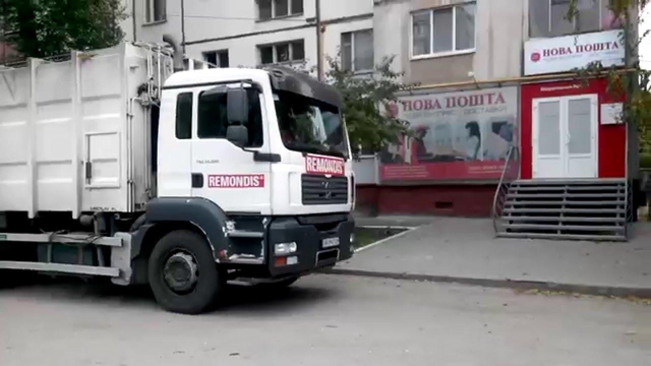 Так в осипенковском районе запорожья мусоровозы ремондиса разрушают тротуары наших дворов