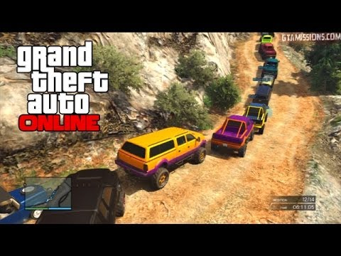 GTA V Online ps3 | NGG Event | 1/12/14 | Lenichelle's 4x4 Course! - BJ's PoV