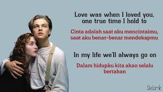 My Heart Will Go On - Celine Dion [Ost Titanic] (Lyrics video dan terjemahan)