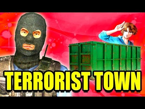 TTT I'M IN A DUMPSTER! - Siblings Play Trouble in Terrorist Town