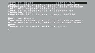 Zork I - The Great Underground Empire Review for the Commodore 64 by John Gage