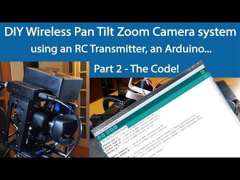 Hacked Pan and Tilt Camera Mount -Use Arduino for