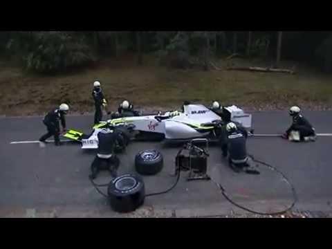 formula 1 Brawn GP Bear attack