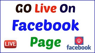 How to GO Live On Facebook Page | Fb Page pr Live Kaise Jate h [HIndi/Urdu]