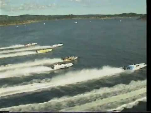 WC Offshore Boatracing Class 3D and 3S Langesund Norway 1991