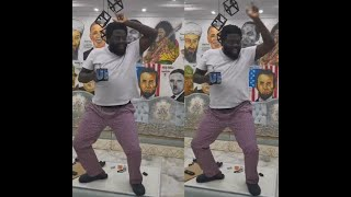 Funny Man! See Actor Aremu Afolayan Dancing On Top Of The Table On His Birthday To Tope Alabi Songs