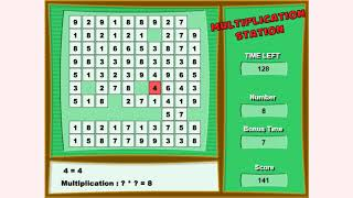 How to play Multiplication Station game | Free online games | MantiGames.com