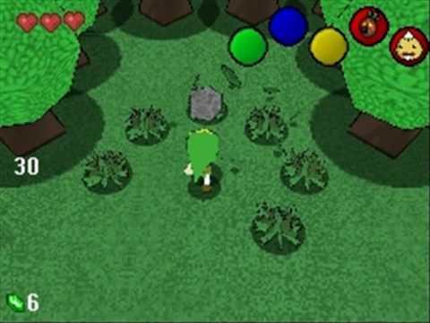Legend Of Zelda 3D Project (old video 1)