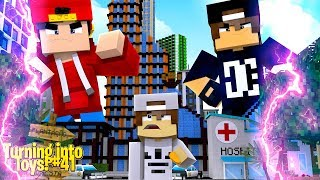 Minecraft Toys #41 - THE NICE KID TURNS TOY ROPO & JACK INTO GIANTS!!